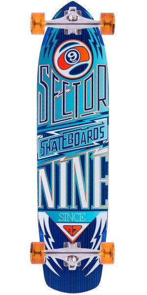 Sector 9 Carbon Flight Longboard Skateboard Complete - Blue