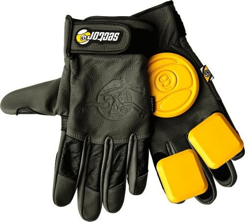 Sector 9 Niner Surgeon Slide Gloves - CHARCOAL/GRAY - BLACK