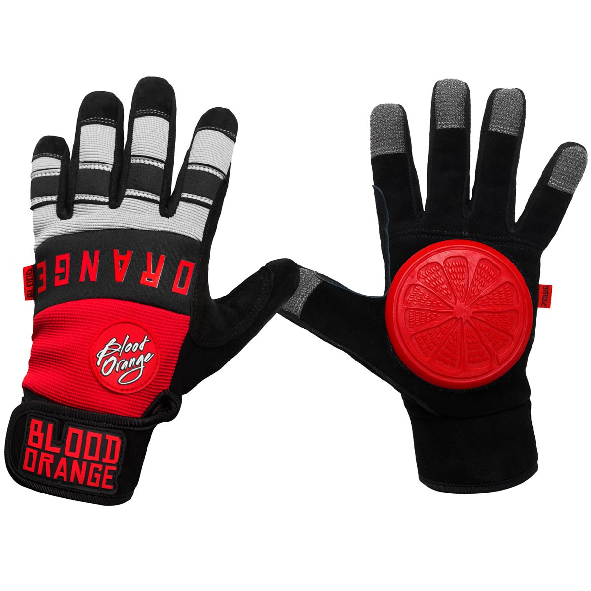 Blood Orange Knuckles Slide Gloves - Red / Grey