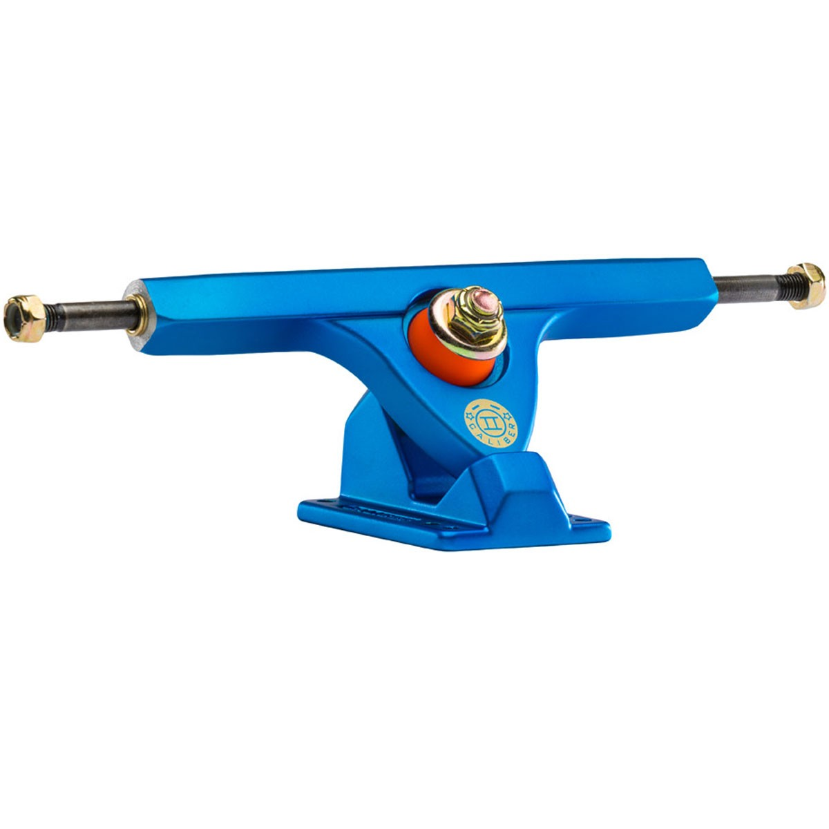 Caliber II Longboard Trucks - Satin Blue / Orange 50 Degree