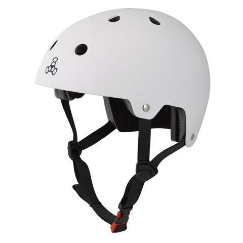 Triple Eight Brainsaver Dual Certified Skateboard Helmet - White Rubber
