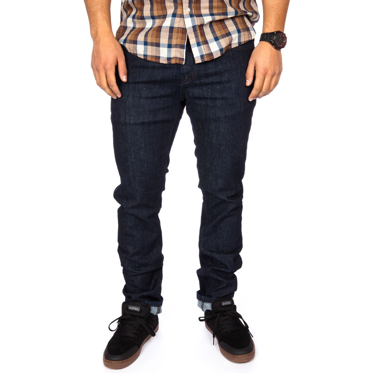 KR3W K Slim Jeans - Dark Blue