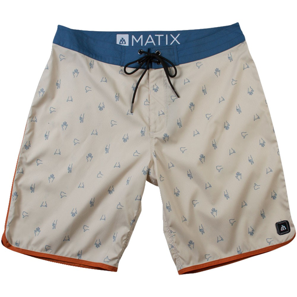 Matix Stokes and Hang-Ups Boardshorts - Natural