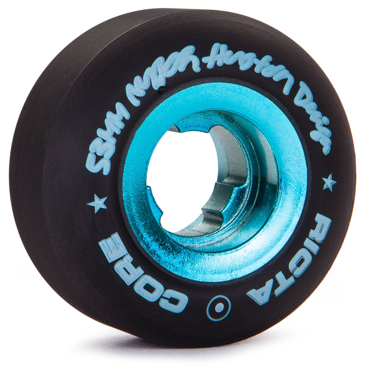 Ricta Nyjah Huston Chrome Core Skateboard Wheels - 53mm - Black / Teal - 81b