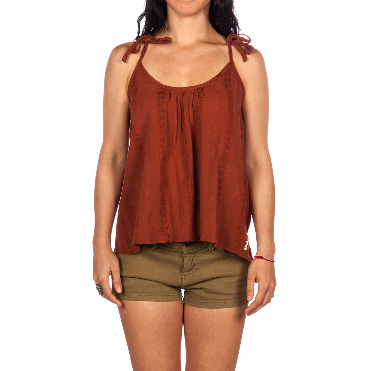 RVCA Between Lines Tank - Coconut Shell