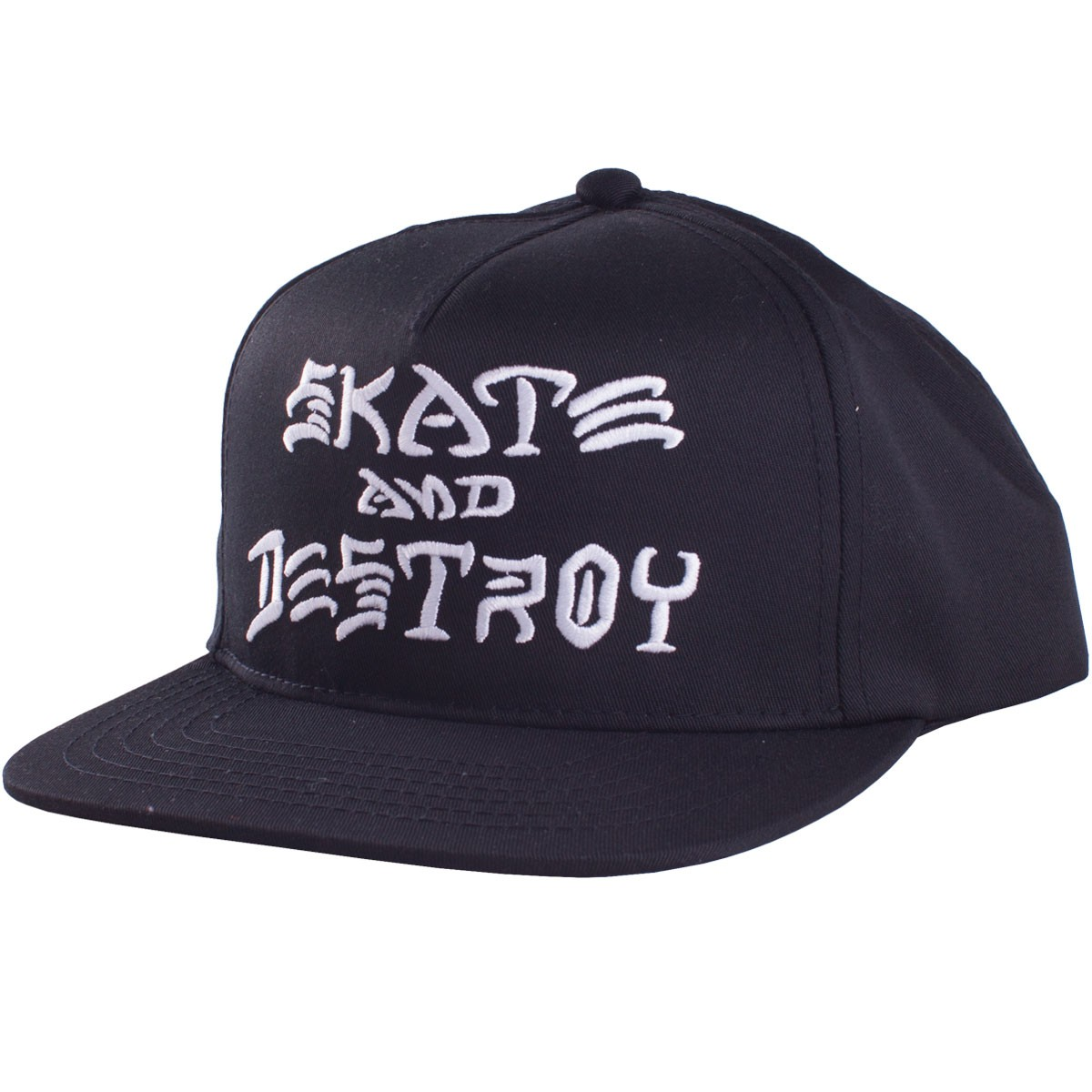 Thrasher Skate and Destroy Snapback - Black