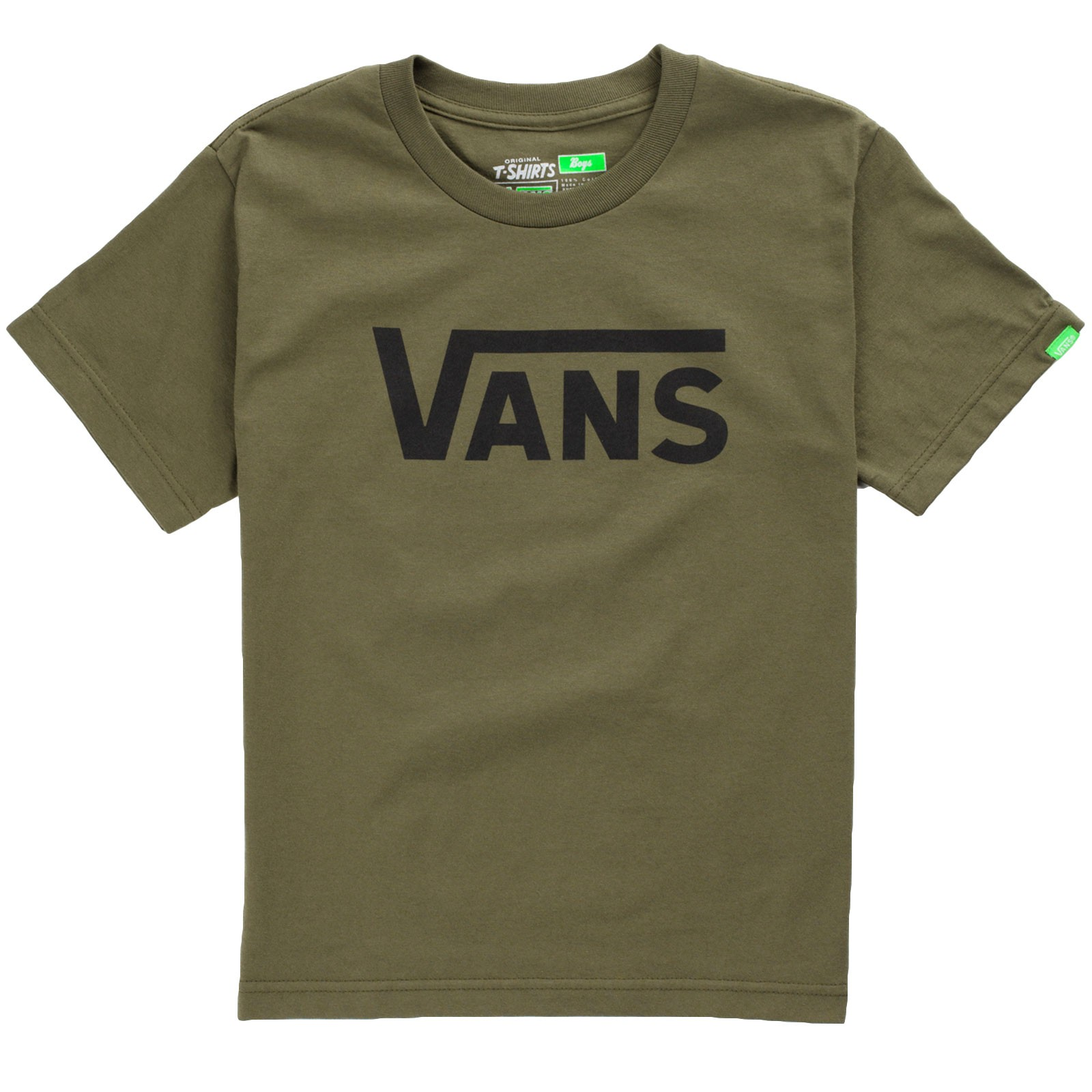 Vans Classic Youth T-Shirt - Military Green/Black