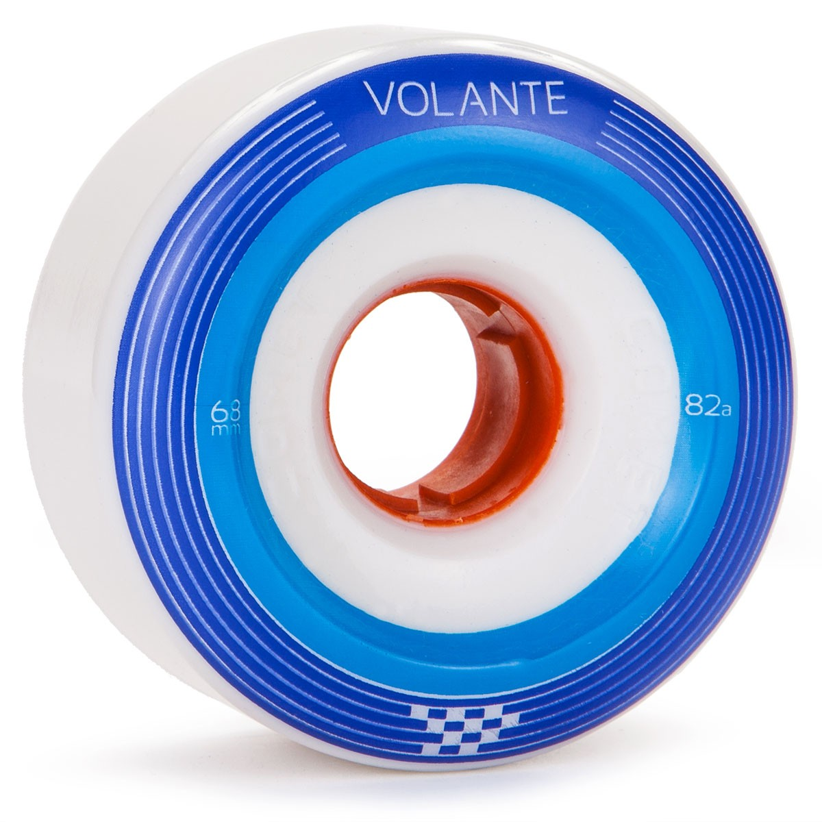Volante Checker Center Set Longboard Wheels 68mm 82a