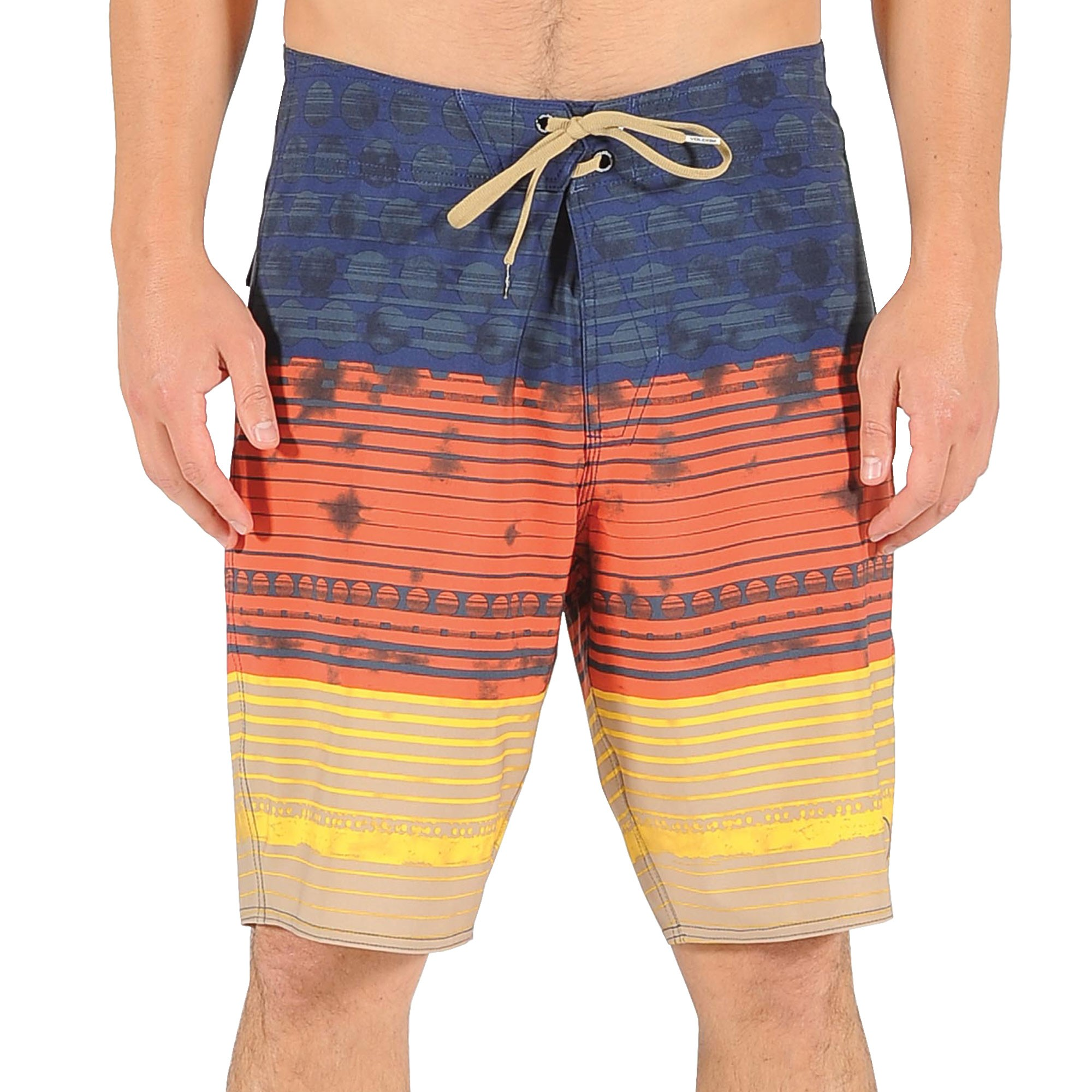 Volcom Lido Stripe Boardshorts - Orange