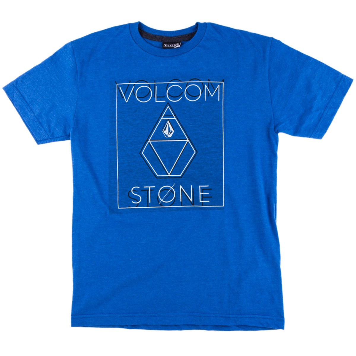 Volcom Stone Dome Youth T-Shirt - True Blue Heather