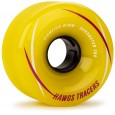 Landyachtz Hawgs Tracers Longboard Wheels - 67mm 78a Yellow