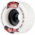 RAD Glide Longboard Wheels 70mm 78a - White