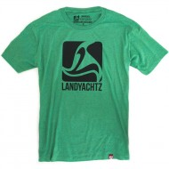 Landyachtz Green Square Logo T-Shirt - Green