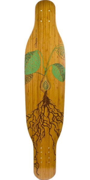 Loaded Fattail Bamboo Longboard Skateboard Deck