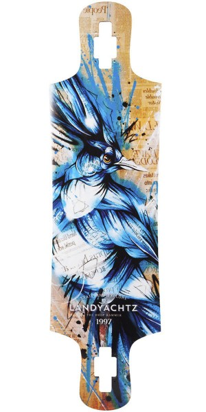 Landyachtz Maple Drop Hammer Blue Jay Longboard Deck
