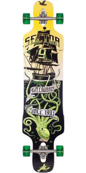 Sector 9 Dropper Longboard Skateboard Complete - Green 2014