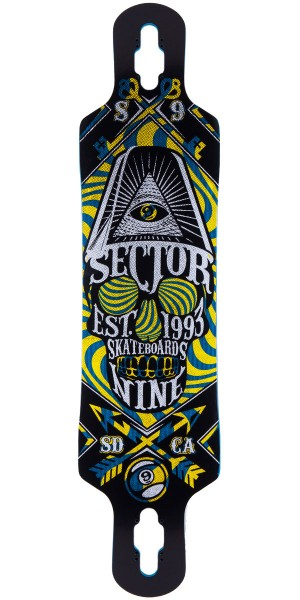 "Sector 9 Seeker 39"" Longboard Skateboard Deck - Black 2014"