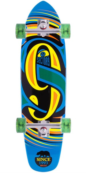 Sector 9 The Steady Longboard Skateboard Complete - Blue