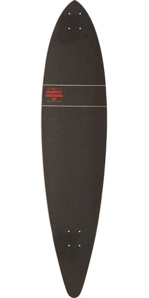 Gold Coast Standard Longboard Skateboard Deck - Red