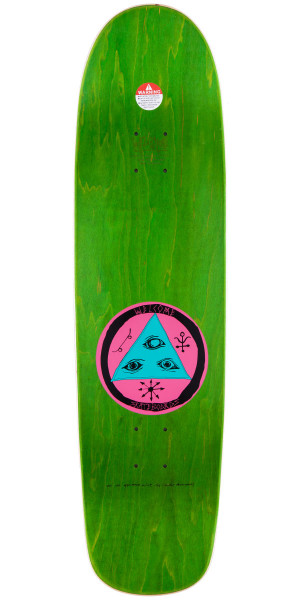 Welcome Baby On Waxing Moon Skateboard Deck - Blue - 8.50""