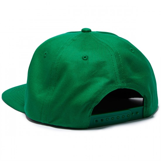 Thrasher Flame Logo Structured Snapback Hat - Green
