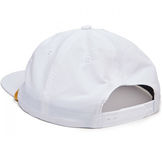 Thrasher Skate & Destroy Puff Ink Snapback Hat - White