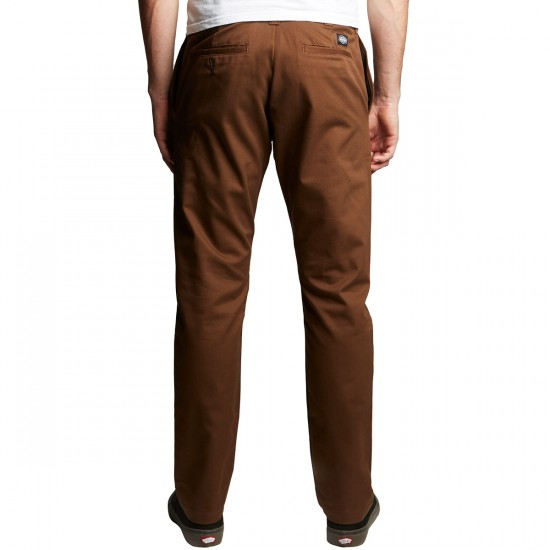 Dickies Twill Pants with Pivot-Tek - Timber Brown - 28 - 32