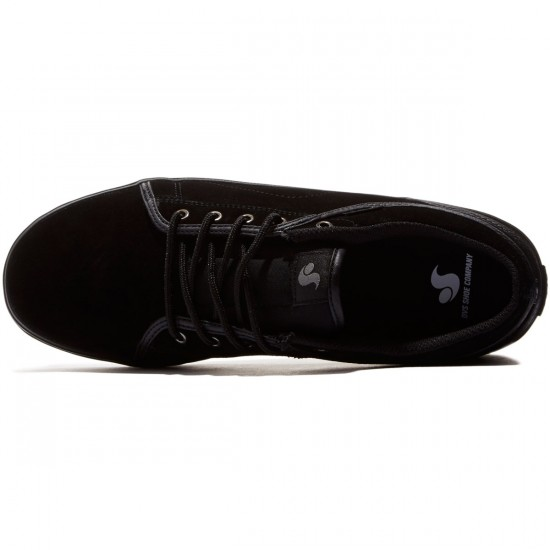 DVS Aversa Shoes - Black/Black Suede - 8.0