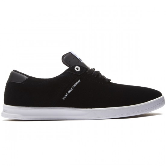 DVS Rico SC Shoes - Black/White Suede - 8.0