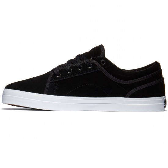 DVS Aversa Shoes - Black/White Suede - 10.0