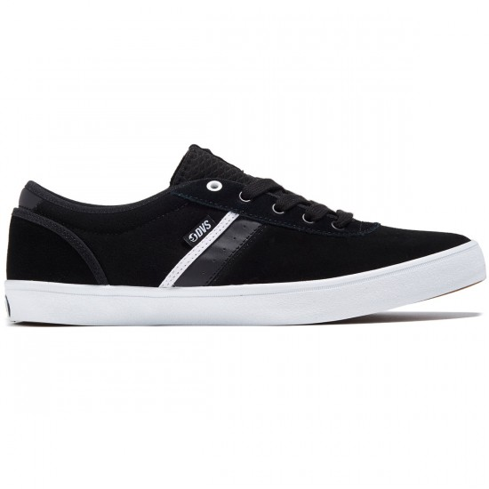 DVS Epitaph Shoes - Black/White Suede - 8.0