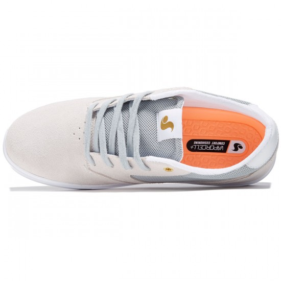 DVS Pressure SC Shoes - Light Grey Suede/Mesh Chico - 8.0