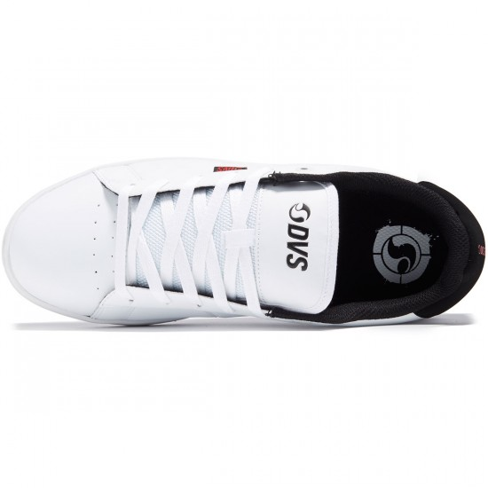DVS Revival 2 Shoes - White/Black/Red Leather - 8.0