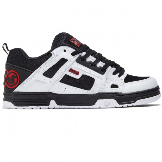 DVS Comanche Shoes - Black/White/Red Leather