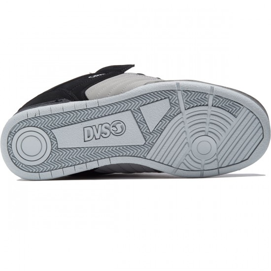 DVS Celsius Shoes - Black/Charcoal/Grey Leather Nubuck - 8.0