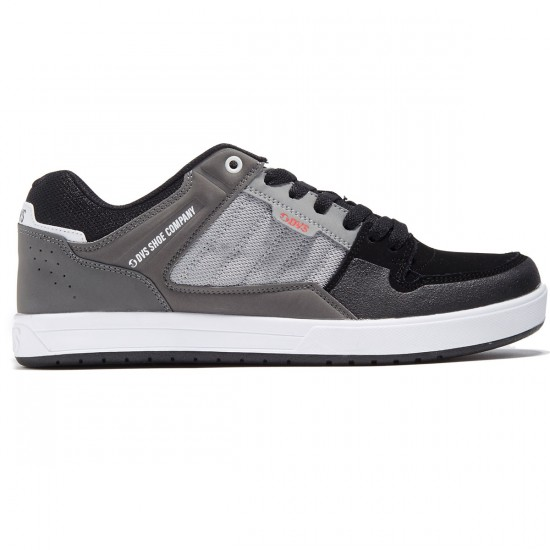 DVS Portal Shoes - Charcoal/Grey Leather Nubuck - 8.0
