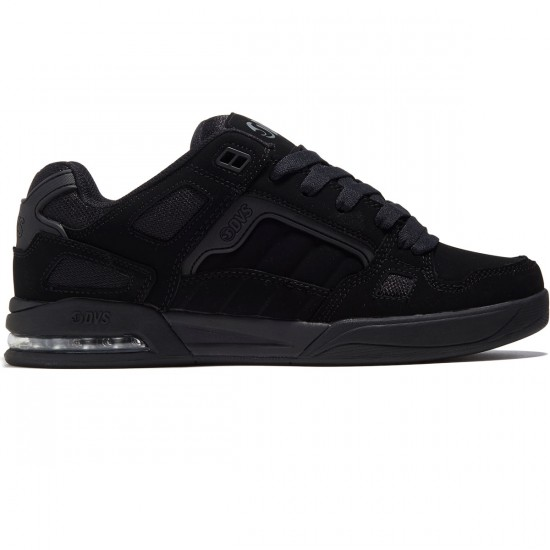 DVS Drone Shoes - Black Leather Nubuck Anderson - 8.0