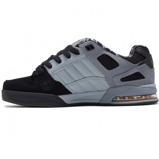DVS Drone Shoes - Black/Charcoal/Grey Nubuck Deegan - 8.0