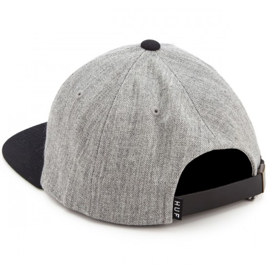 HUF X Thrasher Baseball 6 Panel Hat - Grey Heather