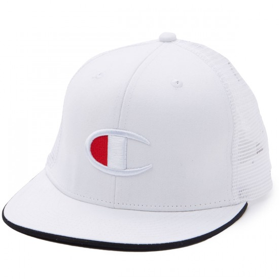 Champion Big C Logo Snapback Hat - White
