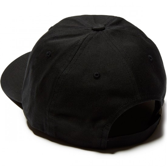 CCS Huma Being Patch Strapback Hat - Black