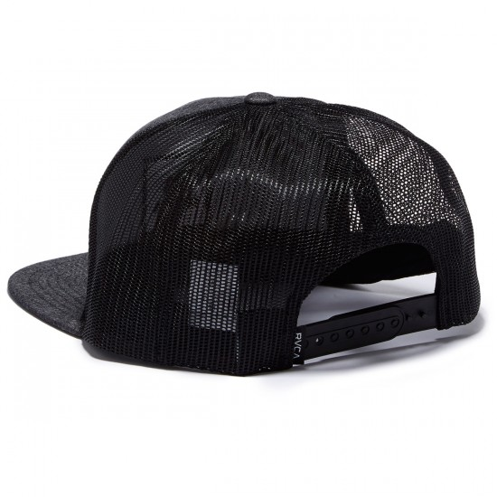 RVCA VA All The Way Trucker Hat - Black Denim
