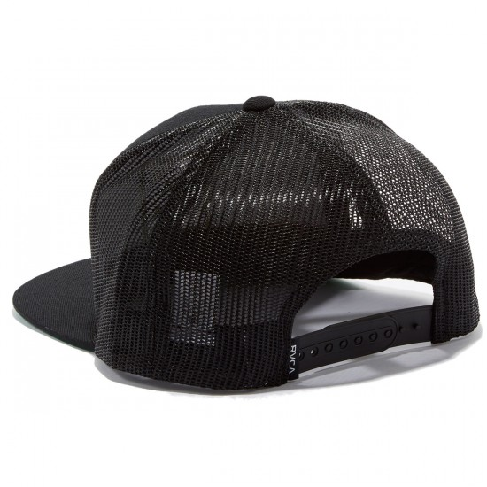 RVCA VA All The Way Trucker Hat - Black Olive