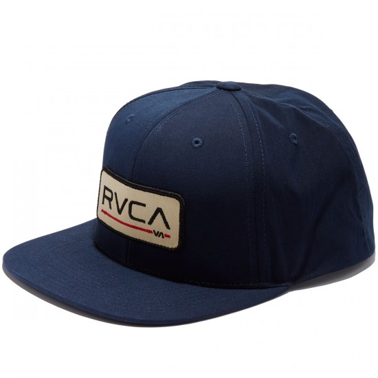 RVCA Big Block 6-Panel Snap back Hat - Navy