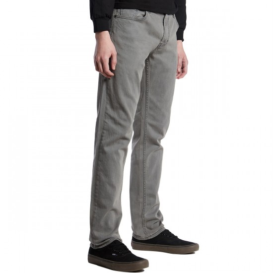 RVCA Daggers Denim Pants - Peroxide Grey - 33 - 32