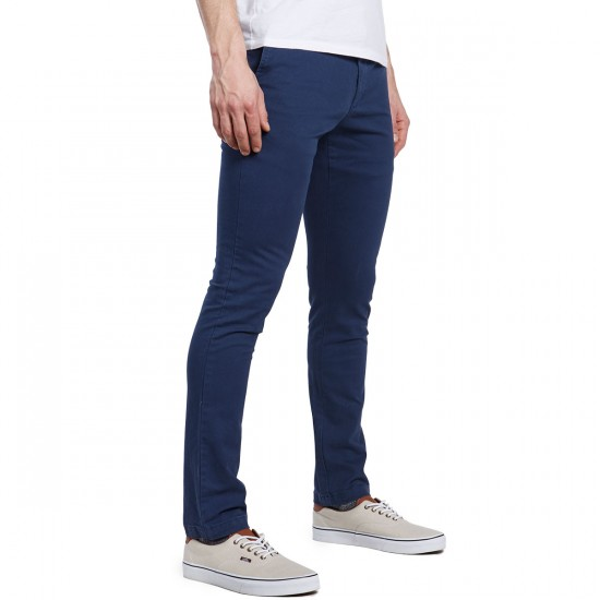RVCA Stapler Twill Pants - Federal Blue - 30 - 32