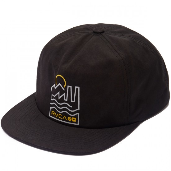 RVCA Industrie Snapback Hat - Black