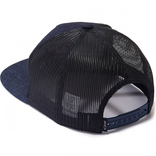 RVCA Points Trucker Hat - Blue Denim