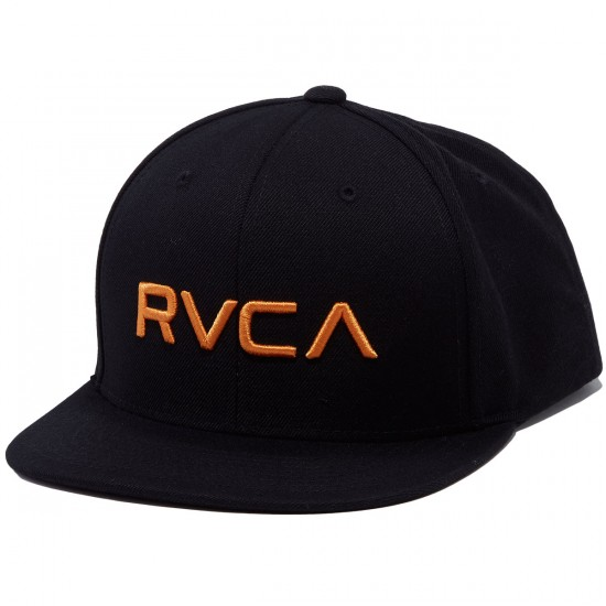 RVCA Twill Snapback III Hat - Orange Decay