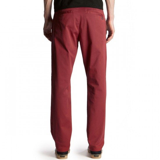 RVCA Weekend Stretch Pants - Rosewood - 28 - 32